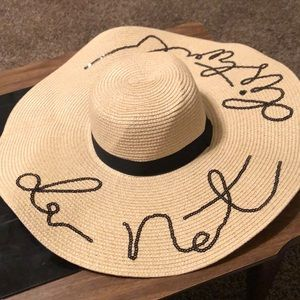 Beautiful straw hat. A true conversation starter!